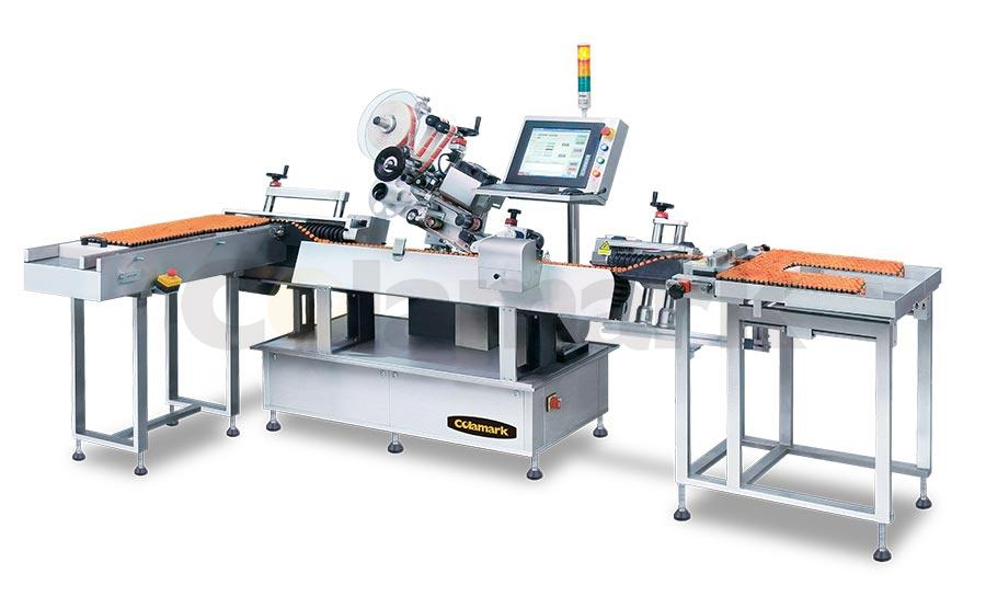 Vertical Feeding Horizontal Wrap-around Labeling System